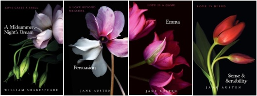 HarperCollins Twilight Inspired Classics Book Covers William Shakespeare Jane Austen Austen Midsummer's Night Dream Persuasion Emma Sense Sensibility