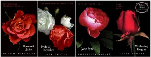 HarperCollins Twilight Inspired Classics Book Covers Romeo Juliet Pride Prejudice Jane Eyre Wuthering Heights Bronte Austen Shakespeare