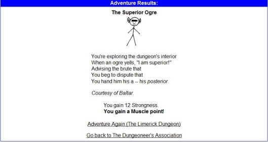Kingdom of Loathing Superior Ogre Screenshot Limerick