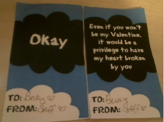 The Fault in our stars valentine Real Life romantic john green valentine card