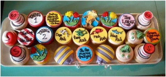 Doctor Seuss treats Dr. Seuss cupcakes Seuss Party cupcake toppers