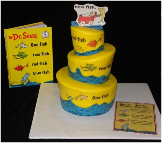 Doctor Dr. Seuss One fish two fish red fish blue fish cake yellow cake book cake