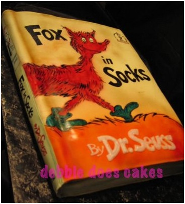 Doctor Dr. Seuss fox in socks cake