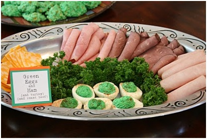 Doctor Dr. Seuss party roast beast green eggs and ham savory themed party