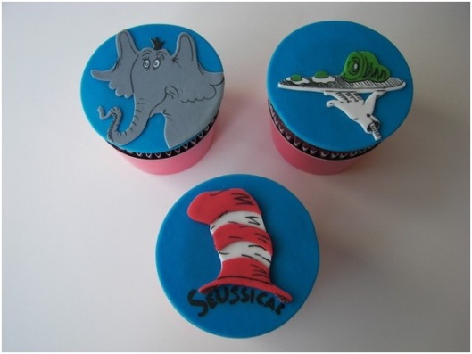 Doctor Dr. Seuss cupcake toppers Horton hears a who cake treats etsy