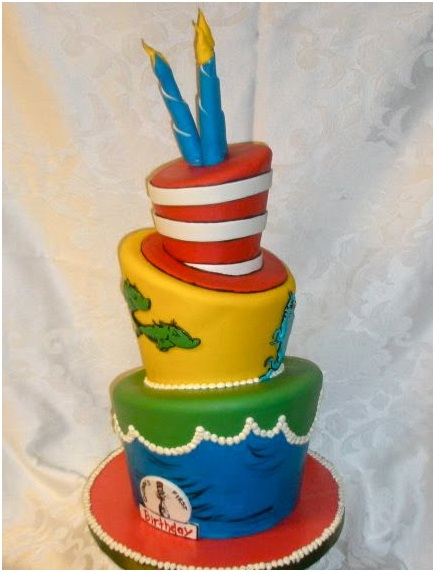 Doctor Seuss birthday cake Dr. Seuss cake Topsy Turvey Cake Layers